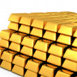 3d gold bars and coins — Stock Photo #6584166