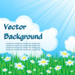 Royalty-Free Stock Vector Image: Blue background with grass