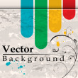 Royalty-Free Stock Vector Image: Grunge background with bend