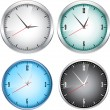 Stock Vector: Office clocks