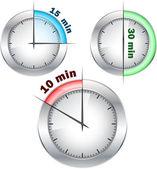 Office clocks — Stock Vector