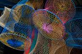 Colorful fishing-nets — Stock Photo