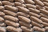 Säckar cement — Stockfoto