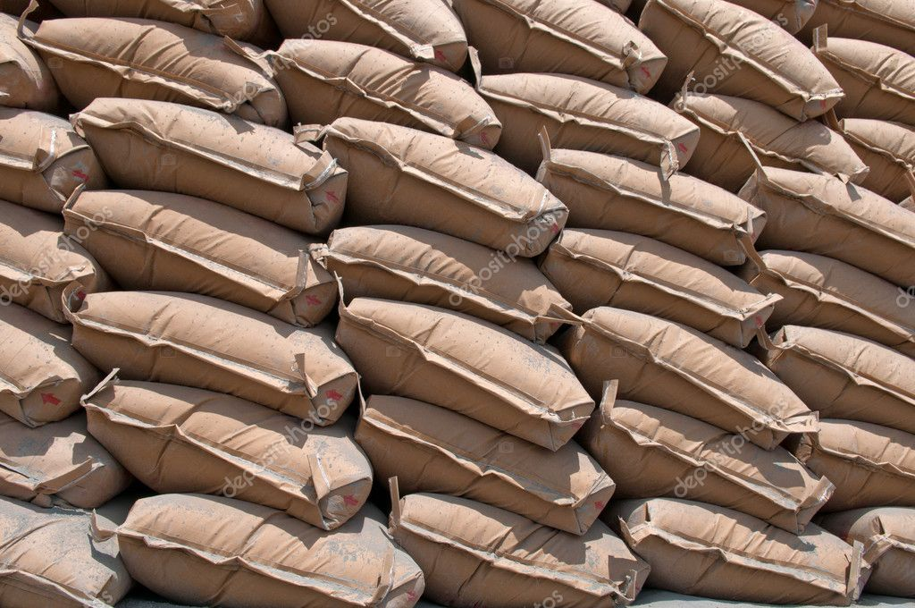A lot of bags cement — Stock Photo #5796524