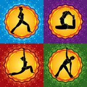 Yoga square — Stock Vector
