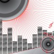 Royalty-Free Stock Vector Image: Musical theme with loudspeakers