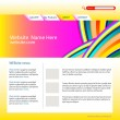 Vector website design template — Stock Vector