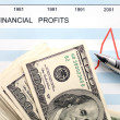 U.s. financial profits — Foto Stock