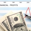 U.s. financial profits — Stock Photo
