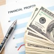 Financial profits — Foto Stock