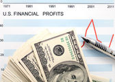 U.s. financial profits — ストック写真