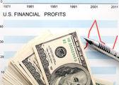 Us finanzielle gewinne — Stockfoto
