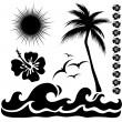 Summer silhouettes — Stock Vector