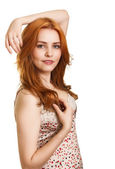 Photo of beautiful woman with magnificent hair — Stock Photo