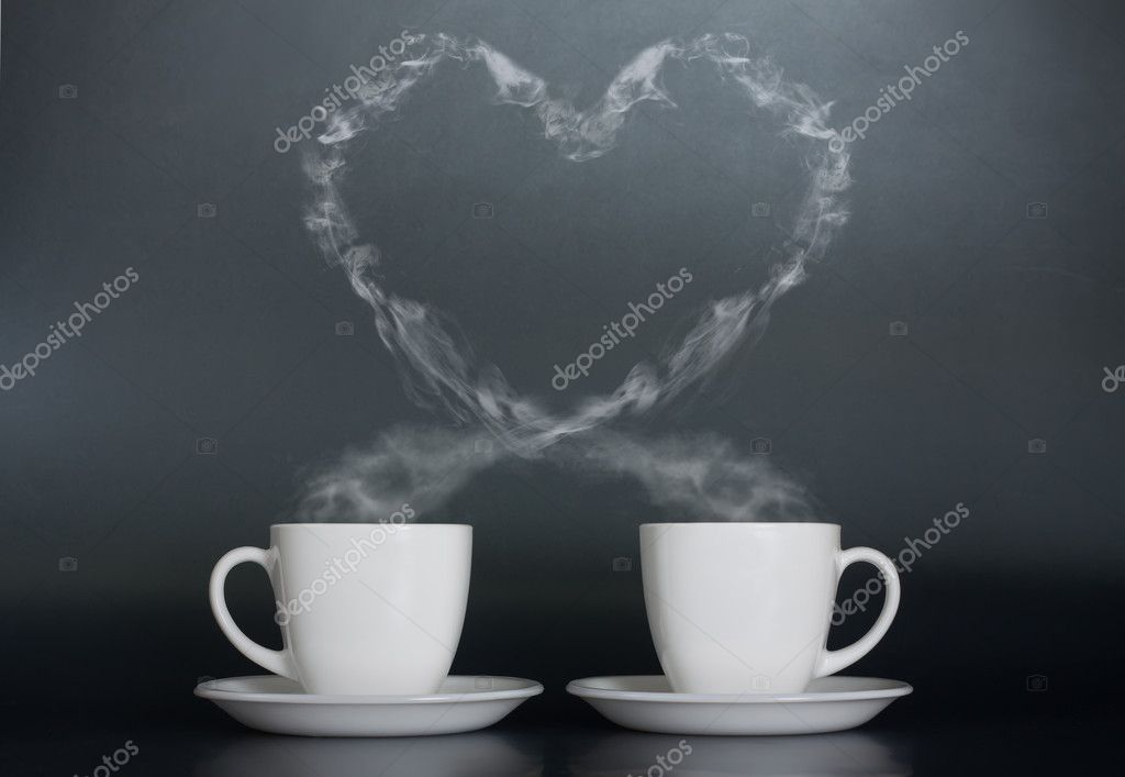 Two cups of coffee with love  — Stock Photo #5570216