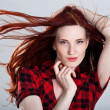 Stock Photo: Portrait of beautiful young womwith wonderful hair
