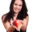 Red apple in woman hands — Stock Photo #6402101