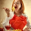 Hunger for pasta - Stock Photo