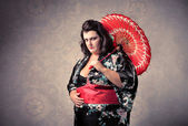 Fat geisha — Stock Photo
