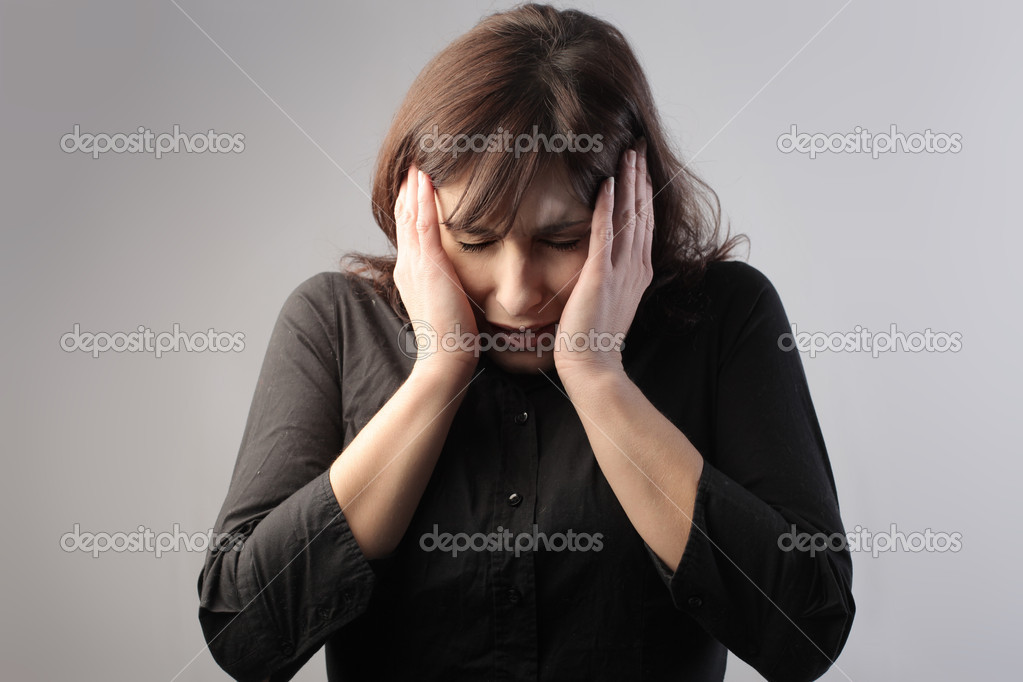 Young woman feeling ill — Stock Photo #5753365