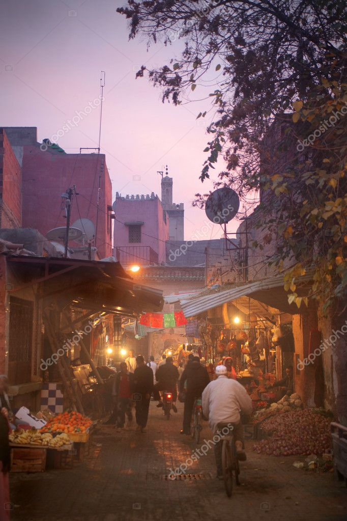 Night view of a street of Marrakech  — Stock Photo #5757217