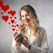 Stock Photo: Love messages