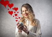 Mensajes de amor — Foto de Stock