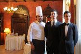 équipe de restaurant — Photo