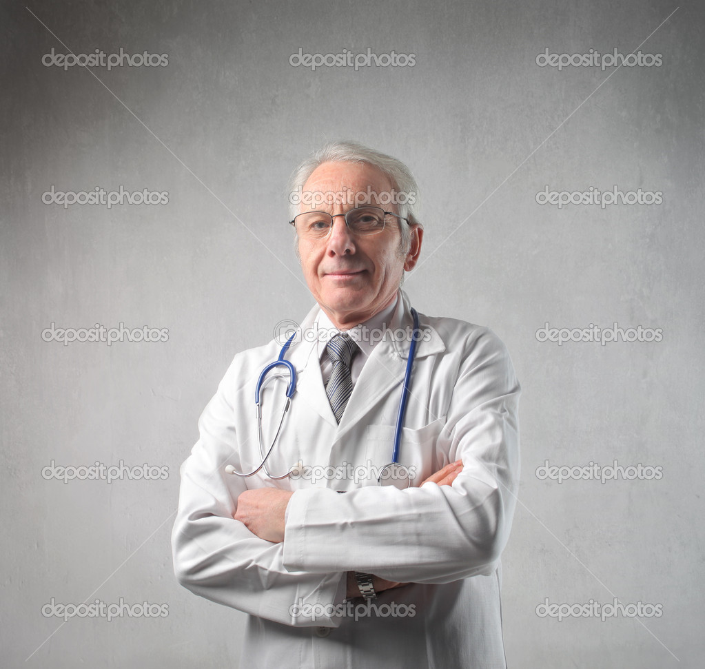 Portrait of  a senior doctor  Stock Photo #5972787