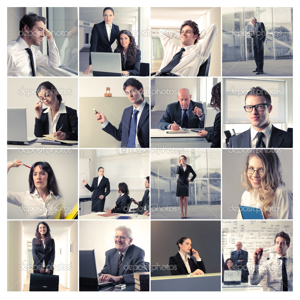 Composition of business working at the office — Stockfoto #6309242
