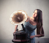 Vintage music — Stock Photo