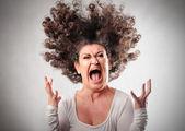яростный женщина — Стоковое фото