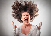 Mulher furiosa — Foto Stock
