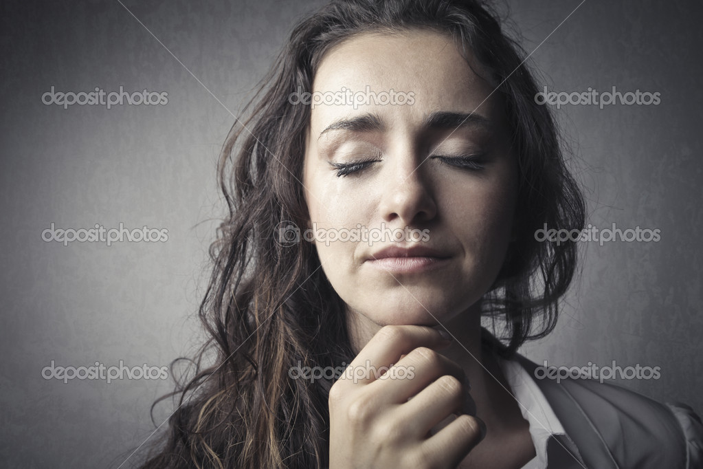 Young sad woman crying — Stock Photo #6316323