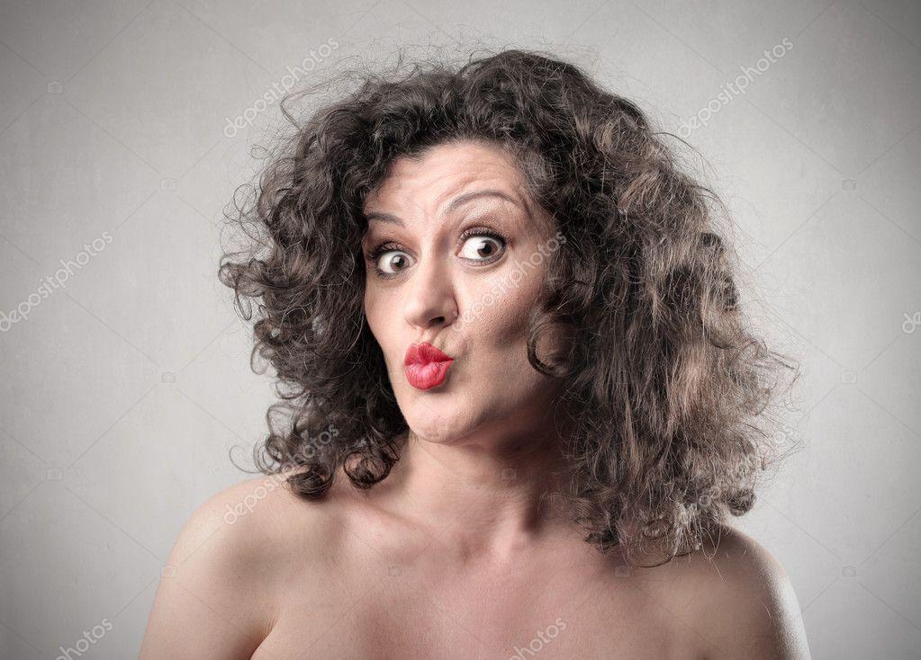 Funny woman — Stock ...