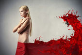 Beauty in red — Stock Photo