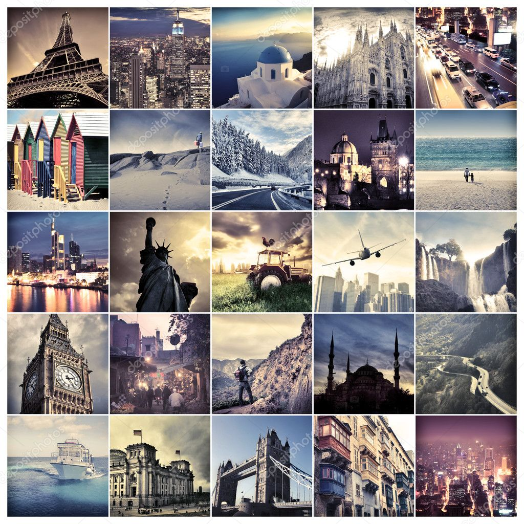 Composition of landmarks all over the world — Stock Photo #6321886