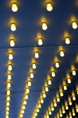Background Of Lights Outside A Theatre — Stock Photo
