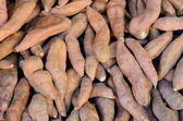 Background Of Yams At A Market — Stock Photo