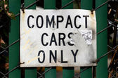 Compact Cars Only — Stock Photo