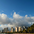 Waikiki Beach And Hotels In Hawaii With Copy Space — Stock Photo