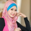 Stock Photo: Pretty young muslim women