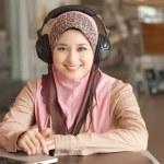 Beautiful young muslim women — Stock Photo