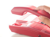 Hang up of the red phone — Stock Photo