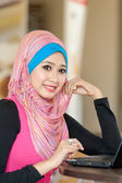 Pretty young muslim women — Stock Photo