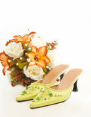 Malay wedding shoes — Stock Photo