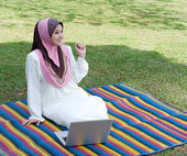 Relaxed at the park — Stock Photo