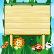 Royalty-Free Stock Imagen vectorial: Customizable wooden sign, jungle