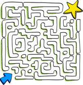 Maze of star — Stock Vector