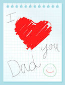 I love you dad — Stock Vector
